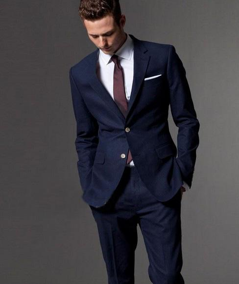 Popular Men's Navy Blue Suit Coats-Buy Cheap Men's Navy ...