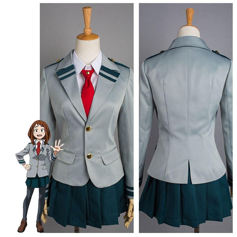 Boku no Hero Academia Cosplay Costume My Hero Academia Tsuyu Cosplay Costume School Uniform Dress