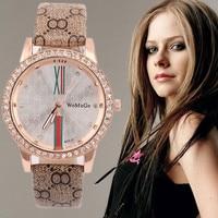Womage luxury rhinestone wrist watch women watches leather ladies watch lady hour clock montre femme bayan.jpg 200x200
