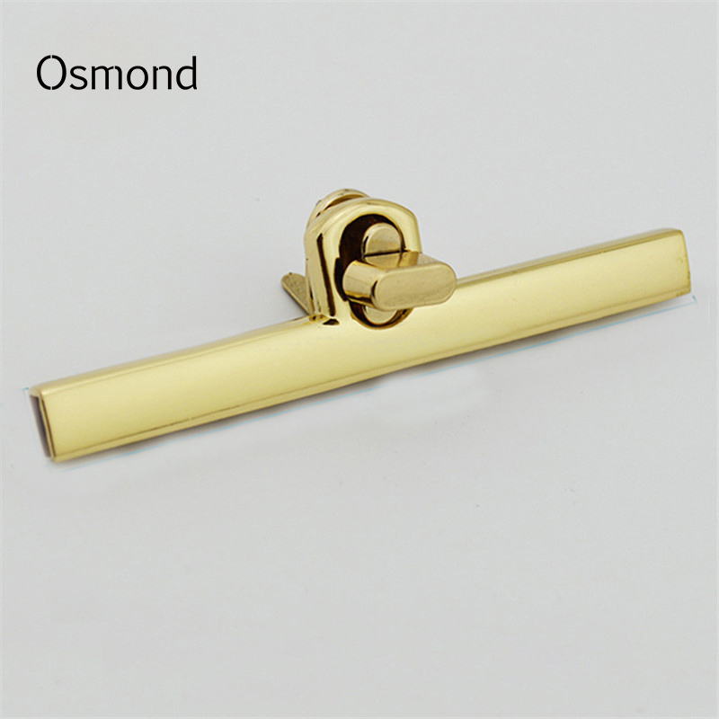 Osmond 96X1mm Antique Gold Tone Lock Metal Purse Frame Turn Twist Snap Clasp Closure Alloy Tone Clasp Snap For Bag Accessories osmond 37x25mm metal lock hardware cabinet boxes diy bag accessories latch catch toggle bags parts button clasp closure locks