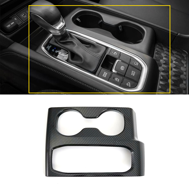 Car Styling Interior Console Gear Shifter Panel Frame Cover Trim 1pcs Left Hand Drive For Hyundai <font><b>Santa</b></font> <font><b>Fe</b></font> <font><b>2019</b></font> image
