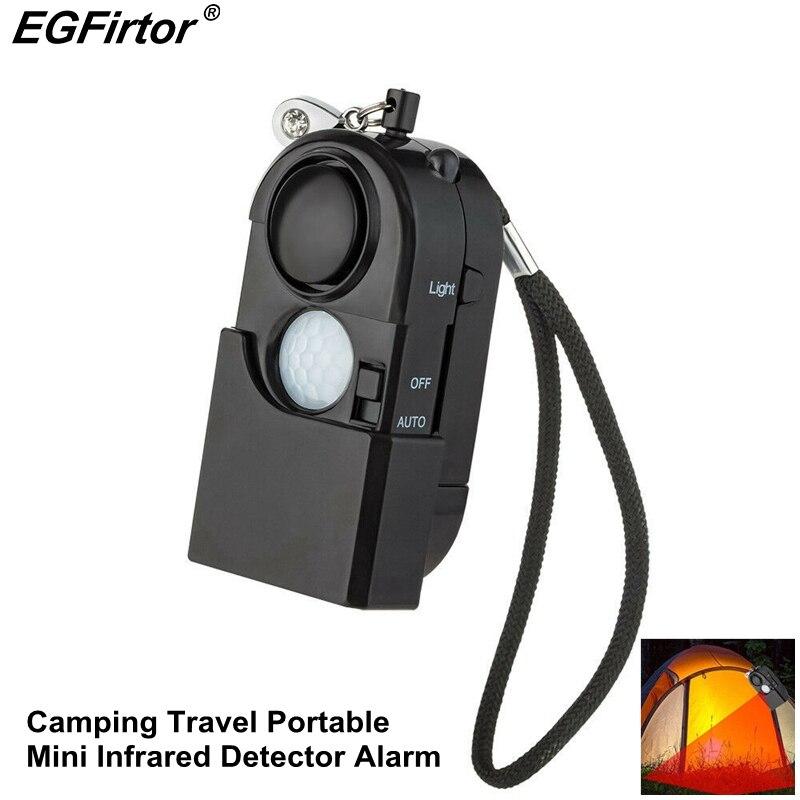 Alarme de segurança preto pessoa proteção de alarme auto defesa viagem infravermelho casa anti-roubo alarme infravermelho pessoal sensor de movimento
