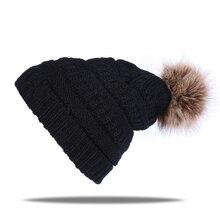 557a2d714f7 2018 Newest beanie cap for women Autumn winter warm hat with cashmere cute  Fur Pom Pop