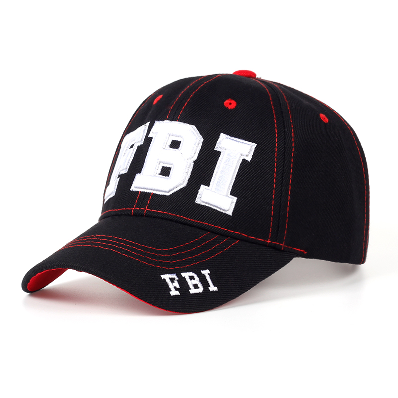 High quality Wholesale Retail Snapback Hat &   Cap   FBI Fashion Leisure embroidery   CAPS   Unisex   Baseball     Cap   dad   cap   bones