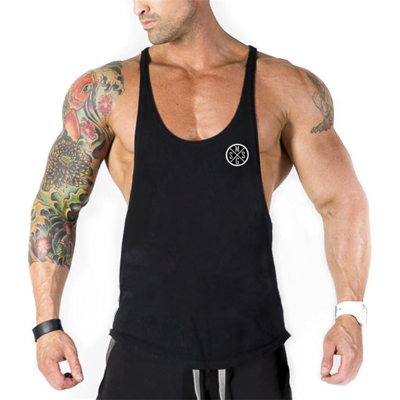 Brand Fitness Clothing Y back Bodybuilding shirt Gyms   Tank     Top   Men Sportwear undershirt Muscle Vests Cotton Singlets Tanktop
