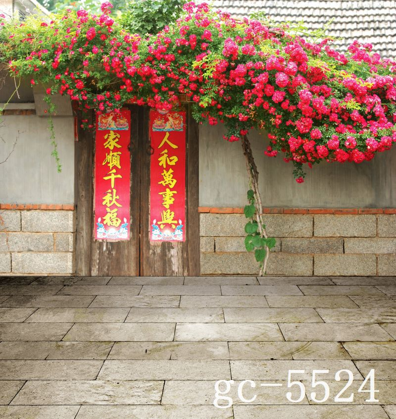 200cm*150cm(6.5ft*5ft) Chinese The New Year couplet Flower backdrops for photography photo background AY 5524