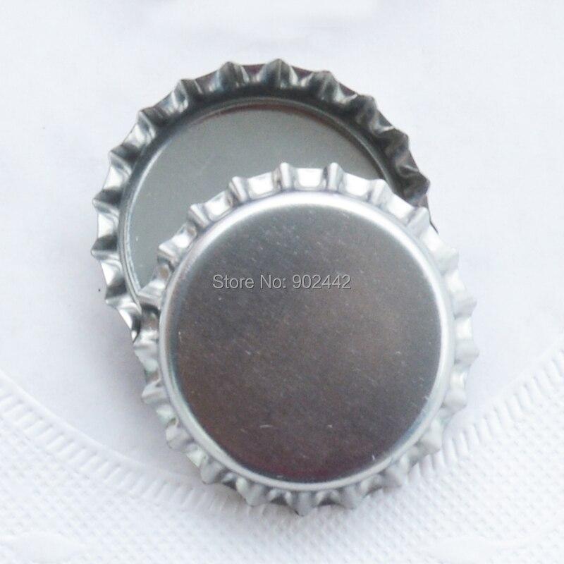 10000 шт/партия блестящие серебряные обычные крышки для бутылок для 1 дюйм эпоксидный купол вставки-DIY украшения Декоративное использование