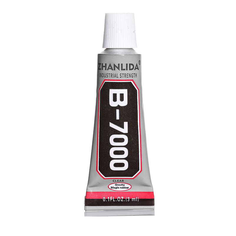 200Pcs 3ML Super Epoxy B7000 Glue Adhesive B-7000 Metal Wood Leather Fabric Plastic Rubber Phone Touch Screen Clothes Textile UV