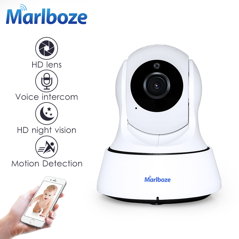 Marlboze 720P HD Wireless Wifi IP Camera Home Security Surveillance Camera Onvif P2P IR-Cut P/T Night Vision CCTV Indoor Camera