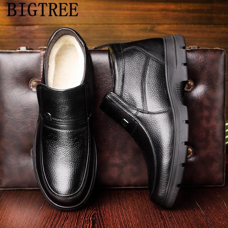 2019 botas de cuero genuino zapatos de invierno para hombre botas de nieve para hombre a prueba de lana botas cuero genuino hombre chaissures homme hiver