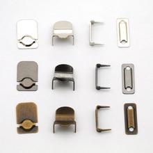 60 компл./лот 4-часть крючки для брюк металлические латунные пуговицы, никель, пистолет метра, античный латунный цвет он-006