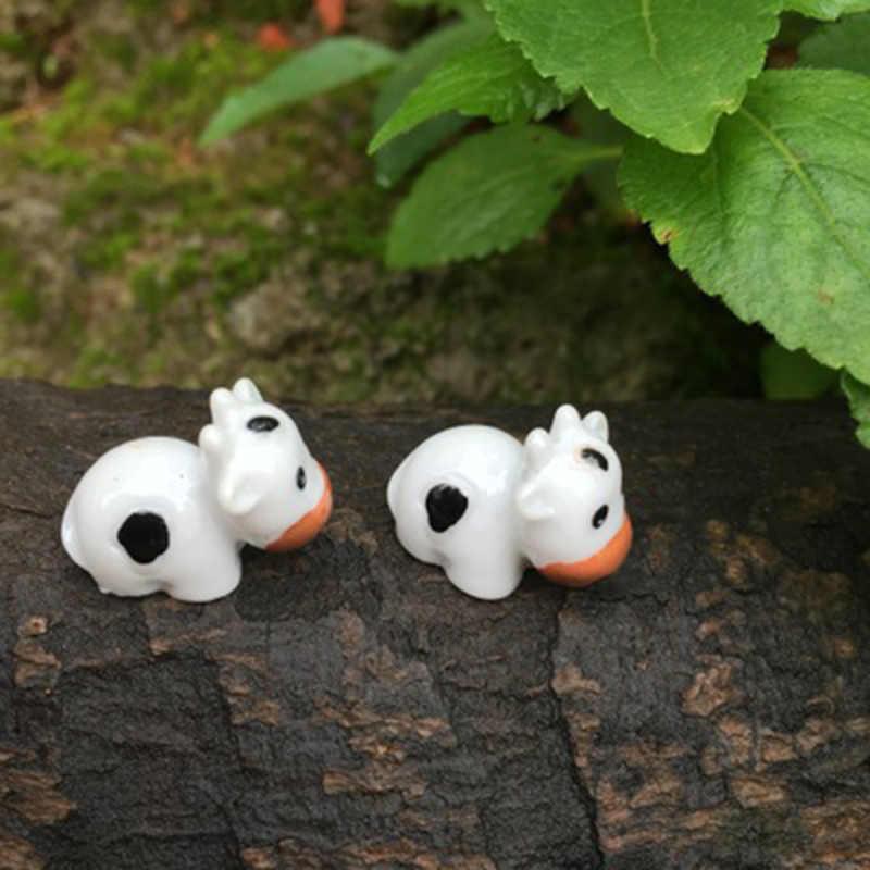 Zocdou 2 Buah Perah Susu Sapi Sapi Perah Australia Spanyol Amerika Serikat Patung Kecil Kecil Figurine Kerajinan Gambar Ornamen Miniatur