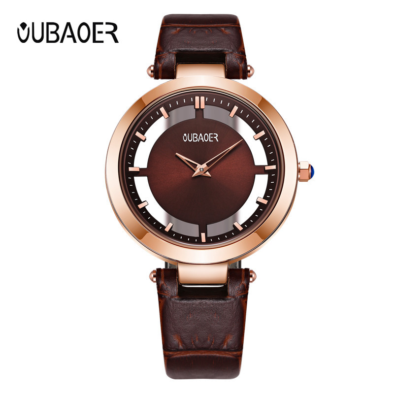 OUBAOER Fashion Dress Women Watches Ladies Top Luxury Brand Bracelet Watch Clock Women Casual quartz-watch relogio feminino ccq luxury brand vintage leather bracelet watch women ladies dress wristwatch casual quartz watch relogio feminino gift 1821