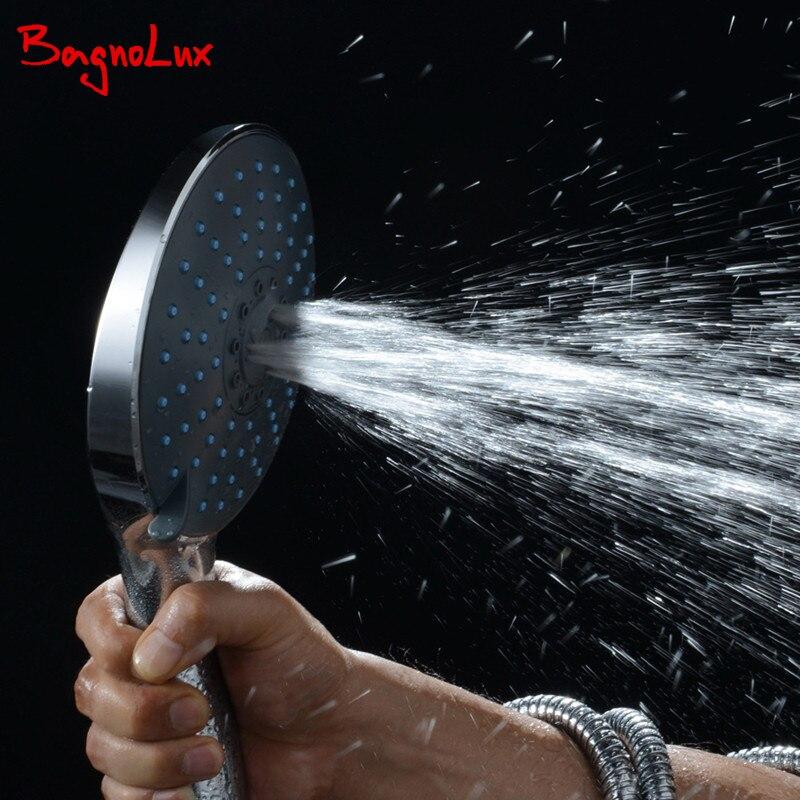 New Patenty Design CHROME EXTRA LARGE Round 7 Function Handheld Shower Head Bath Showering System Replacement Part недорго, оригинальная цена