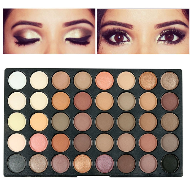 Maquiagem professional 120 colors fashion glitter eyeshadow palette natural cosmetics naked makeup shining eye shadow with brush