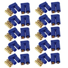 60pc 10 Pairs EC5 Device Connector Plug 5mm Banana plug for RC Plane Multicopter Quadcopter Airplane Helicopter RC plug parts rc heavy duty small power switch anodized aluminum receiver connector for rc helicopter engine airplane