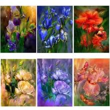 5d diy full Square drill diamond painting cross stitch Colorful iris flower Rhinestones embroidery Mosaic Home decor