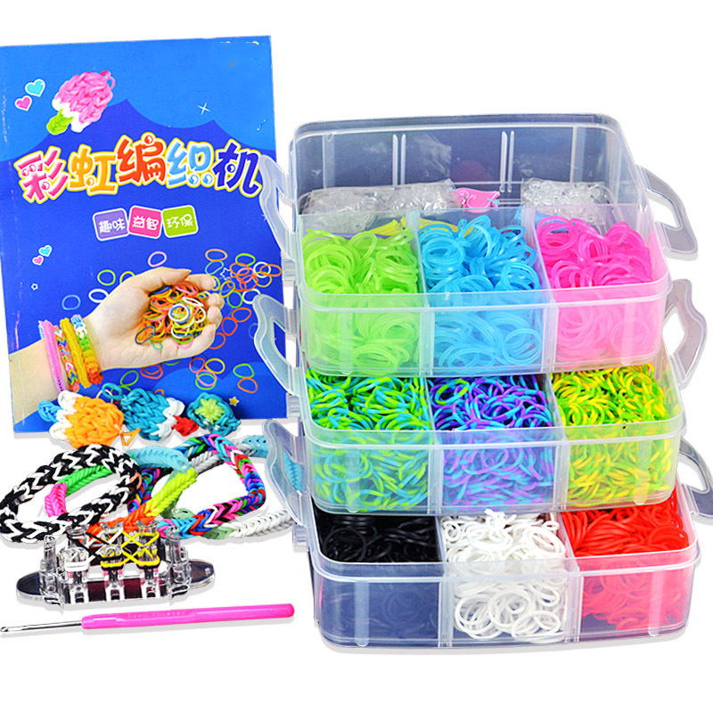 15000pcs Kids Rainbow Elastic loom bracelet Band Kits Handcraft Toy Weaving Machine Rubber Band Knitted Figures Charms Gift ian gillan band ian gillan band live at the rainbow