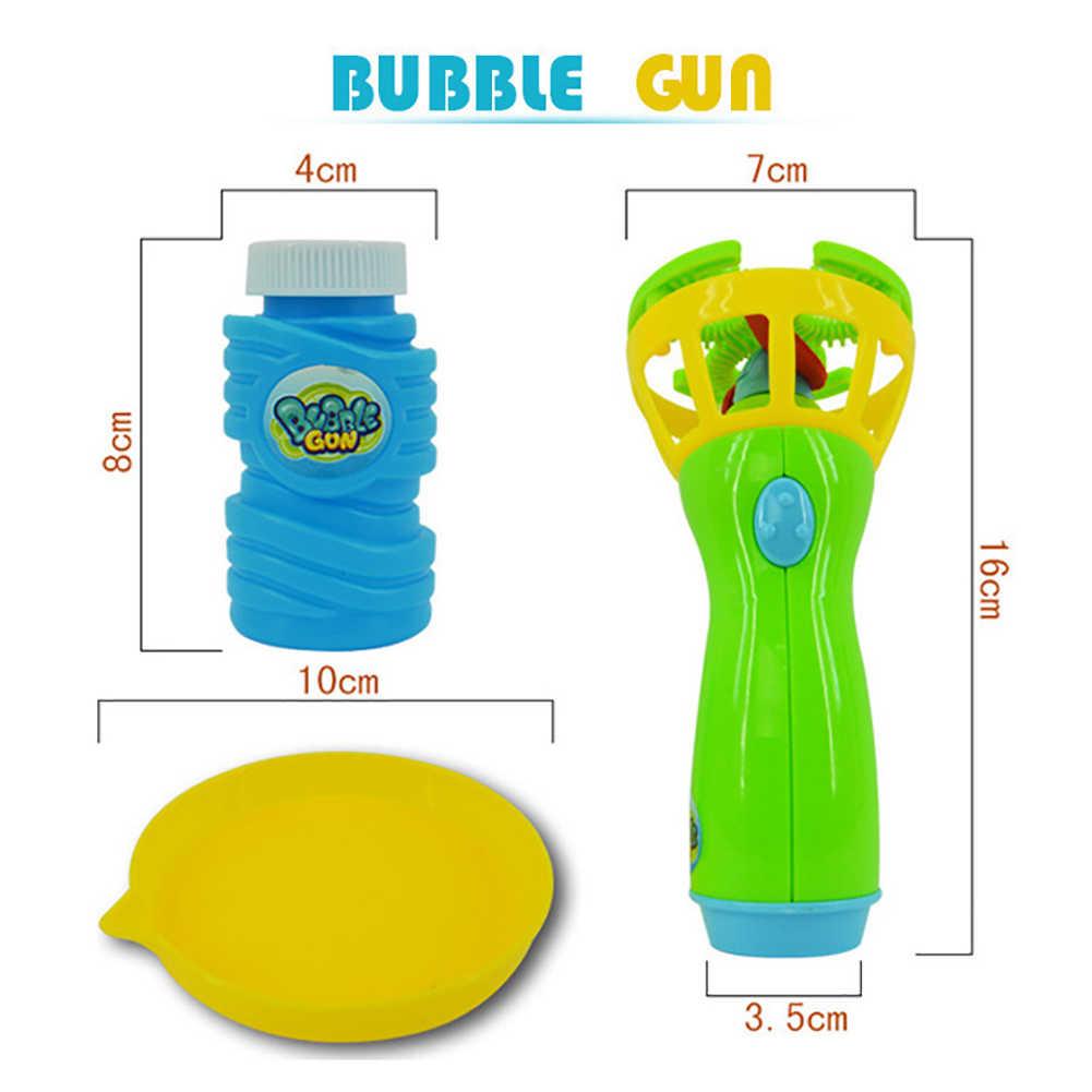 Tenuto in mano Elettrico Bolla Bolle di sapone Macchina Automatica Ventilatore con il Ventilatore giochi All'aperto gioco giocattolo Per Bambini Giocattoli per i bambini