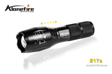 3800 lumens AloneFire GLADIATOR Series E17s CREE XM-L2 LED 5 mode High power Zoomable led flashlight torch
