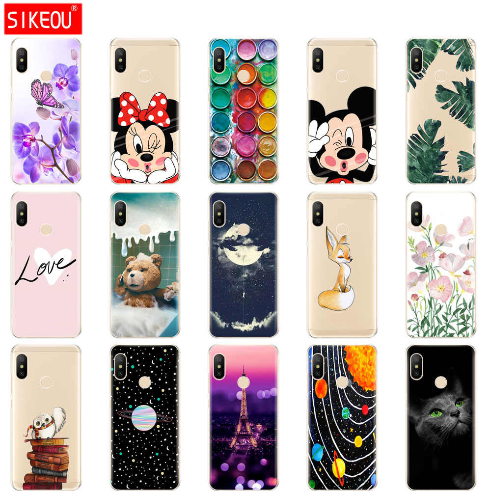 silicone case for Xiaomi MI A2 LITE Case Full Protection Soft tpu Back Cover Phone Case For Xiomi MI A2 LITE bumper Coque fox