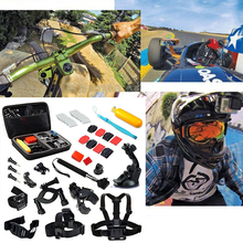 16in1 Gopro Accessories Set Helmet Harness Chest Belt Head Mount Strap Monopod For Go pro Hero 5 4 3+2 1 xiaomi yi action camera