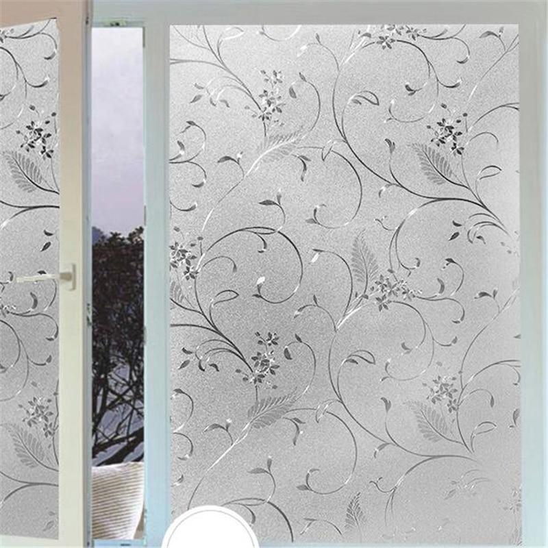 beibehang Electrostatic glass sticker window light transparent opaque bathroom shade sunscreen glass Cellophane wall paper pervious to light decoration bathroom window film stickers opaque applique