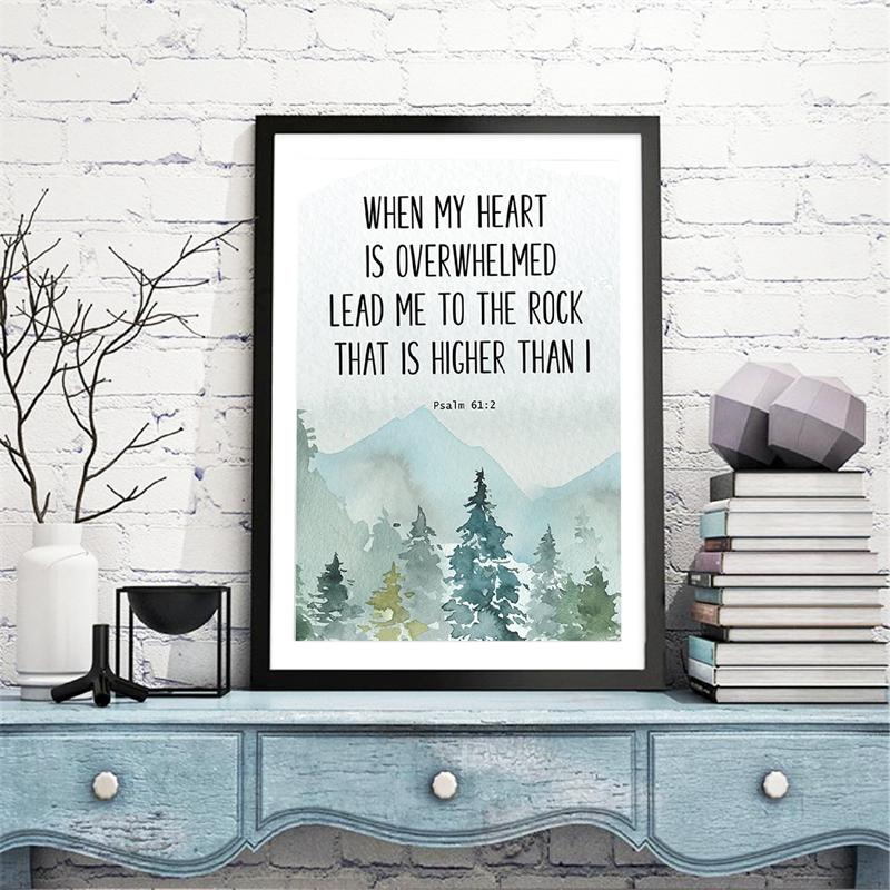 When my heart is overwhelmed Canvas Picture Home Decor