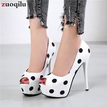 Туфли-лодочки; женская обувь на платформе; женские туфли с открытым носком; Женская Офисная обувь; женская обувь для вечеринок с острым носком; белые свадебные туфли на каблуке