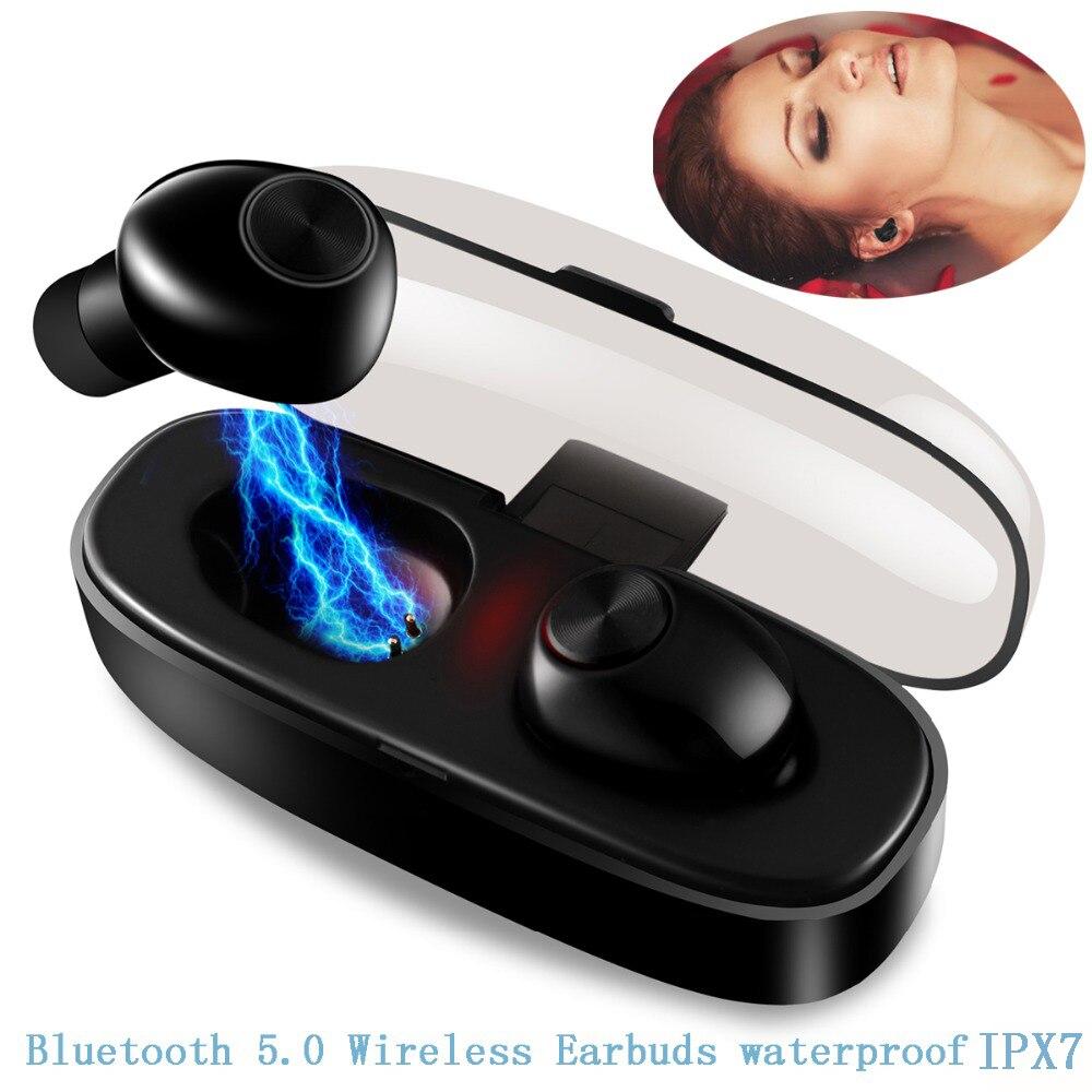 Étanche TWS sans fil oreillettes bluetooth 5.0 casque écouteur sans fil bluetooth sport casque pour avec boîte de charge
