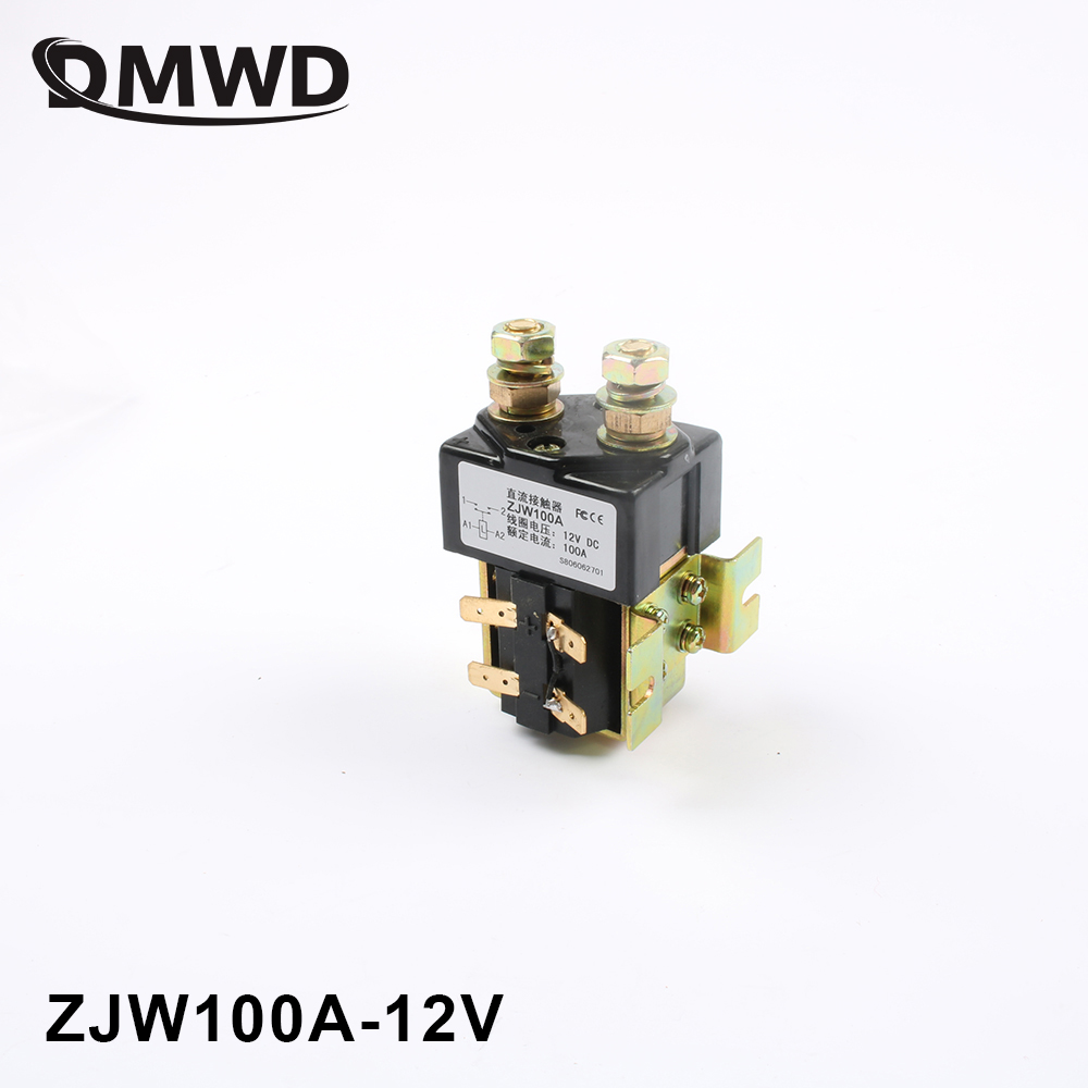 цена на SW80 12V 24V 36V 48V 60V 72V 100A NO style DC Contactor ZJW100A for motor forklift electromobile grab wehicle car winch