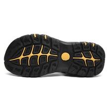 2018 Fashion Quality Genuine Leather Men Roman Sandals Mesh Soft Fisherman Summer Casual Shoes Men Beach Sandalias Men Shoes