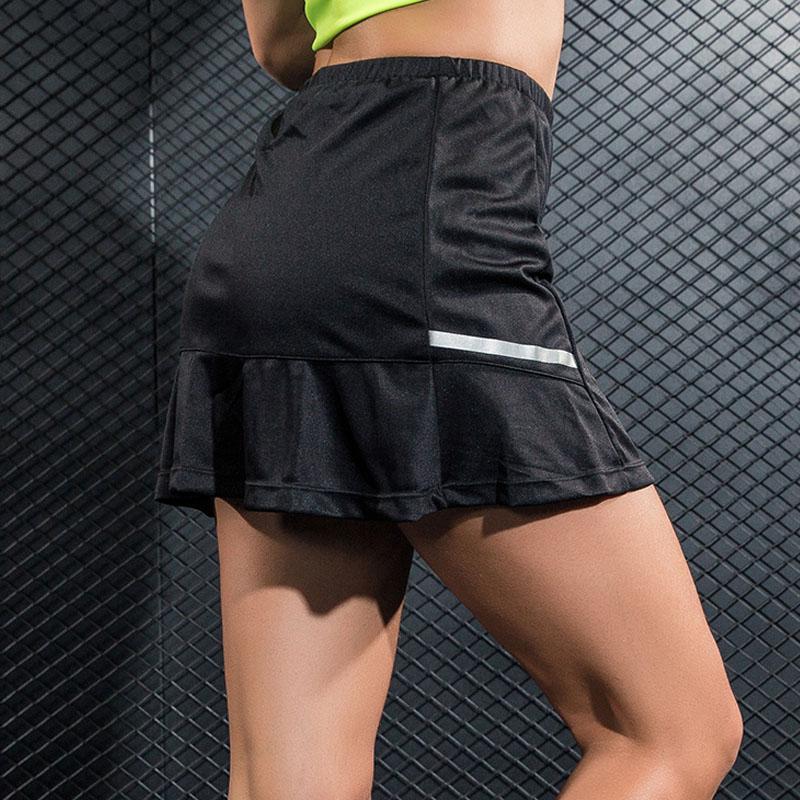 חדש 2 ב 1 טניס קפלים חצאית נשים כושר יוגה ריצה קצר חצאיות Skorts בדמינטון טניס שולחן ספורט ריצת גולף חצאיות
