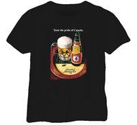 Eksport Molson Piwo Vintage 80 s T Shirt Men Ostatnia Mężczyzna projektowanie T-Shirt Nowe Mody dla Mężczyzn Z Krótkim Rękawem New Men bawełna