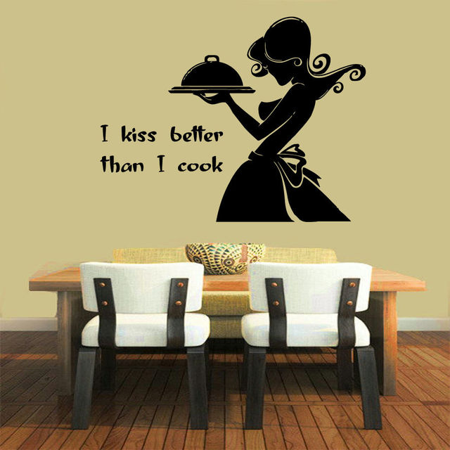 Wall Decals Quote I Cook Better Than I Cook Vinyl Sticker Mural Wall ...