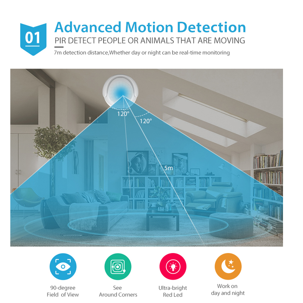 US $82 88 26% OFF|NEO COOLCAM 4pcs/Lot NAS PD01Z Z wave Pus PIR Motion  Sensor +LUX+Temperature Detector Home Automation Alarm System Motion  Alarm-in