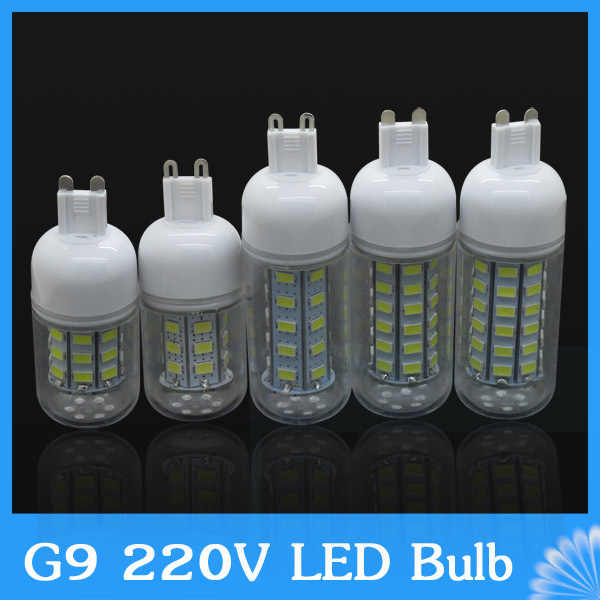 G9 220V 7W 10W 12W 15W 20W 25W LED lamp 24led 30led 36led 48led 69led spotlight,SMD 5730 LED Bulb crystal chandelier corn light