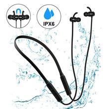 GOOJODOQ Bluetooth イヤホン 4.1 ワイヤレスステレオ IPX6 防水耳イヤフォン Bluetooth イヤホン磁気ヘッドフォン