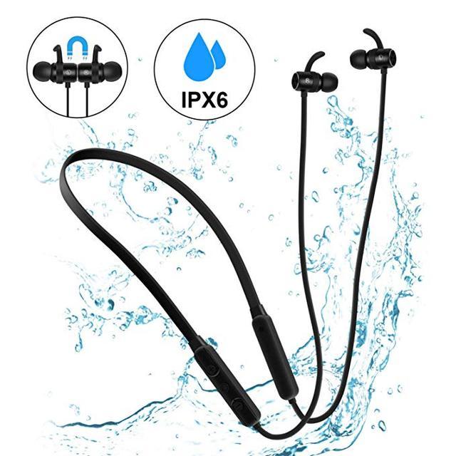 GOOJODOQ Bluetooth Earphone 4.1 Wireless Stereo IPX6 Waterproof In ear Sport Earbuds Bluetooth Earphone Magnetic Headphones