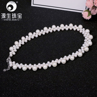 YS Purely Manual Party Necklace Jewelry Withe Natural Pearl Necklace