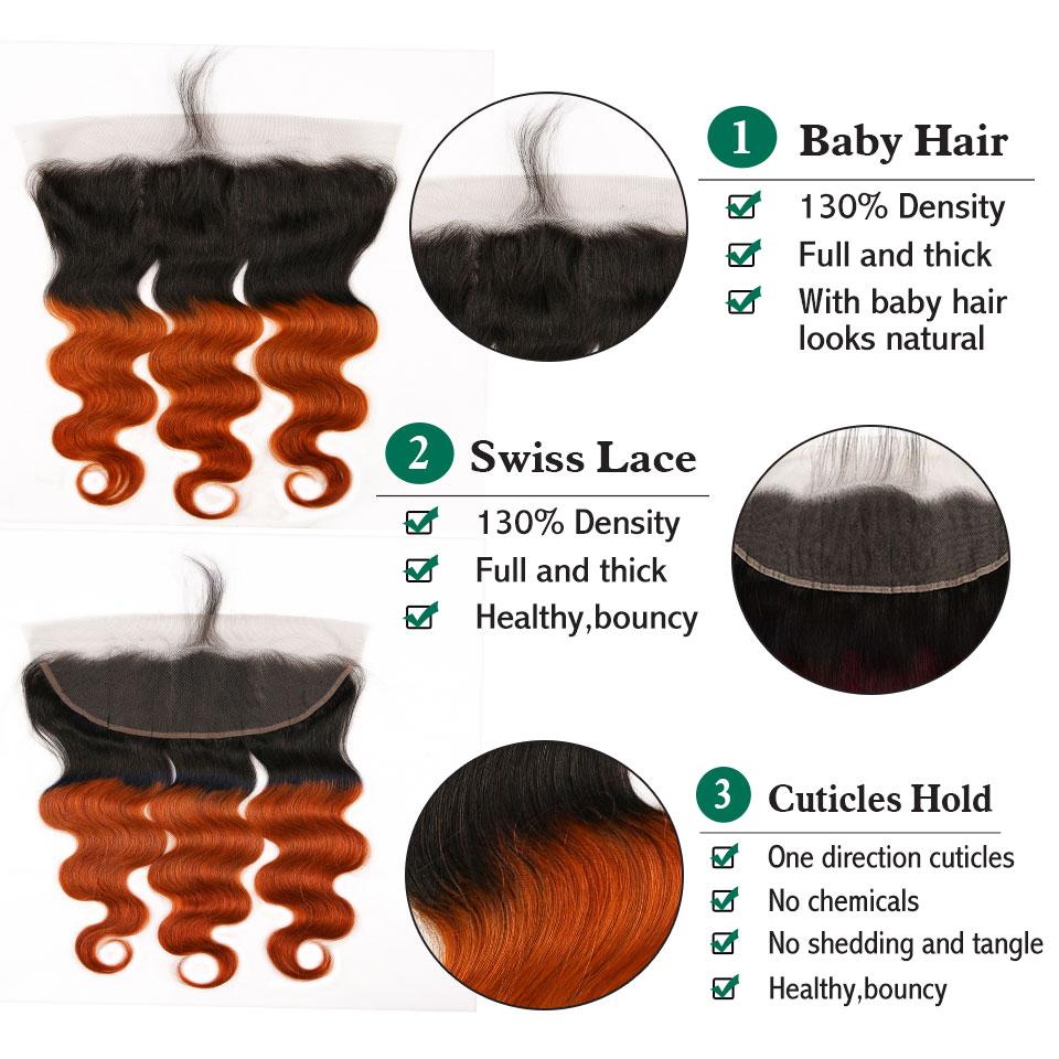 orange body wave hair bundles with closure ear to ear  (11)