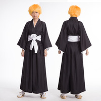 Japanese new Bleach Death Anime Shinigami Kimono cosplay costume unisex Top + Pants