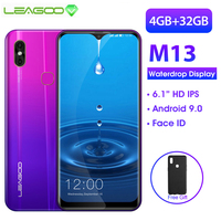 LEAGOO M13 Android 9.0 19:9 6.1 Waterdrop Smartphone 4GB RAM 32GB ROM MT6761 Quad Core Fingerprint Face ID 4G Mobile Phone