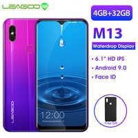 LEAGOO M13 Android 9.0 19:9 6.1 Waterdrop Smartphone 4GB di RAM 32GB di ROM MT6761 Quad Core di Impronte Digitali Viso ID 4G Del Telefono Mobile