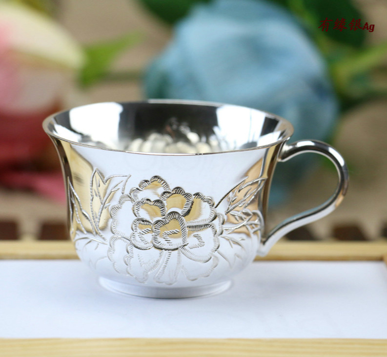 Sterling Silver Wine Glass Teacup Wine Tea Set Coffee Cup
