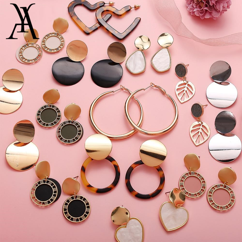 AY New Style Drop Earrings For Women Geometric Sequin Dangle Earring Statement Female Brincos Jewelry Wholesale 2019 Fashion