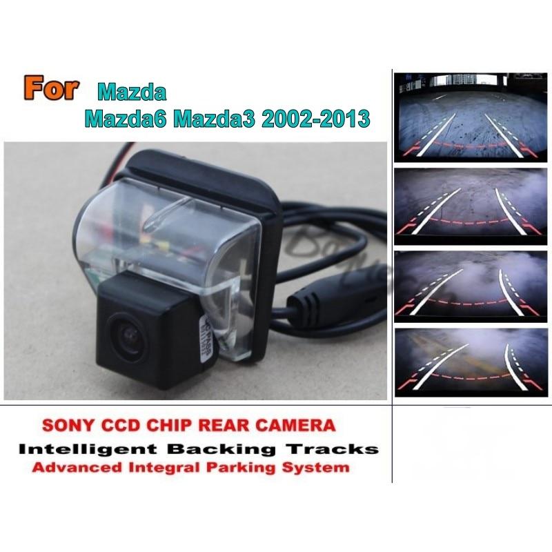 For Mazda 6 Mazda6 Mazda 3 Mazda3 Sendan Smart Tracks Chip Camera / HD CCD Intelligent Dynamic Parking Car Rear View Camera for mazda 6 mazda6 atenza 2014 2015 ccd car backup parking camera intelligent tracks dynamic guidance rear view camera