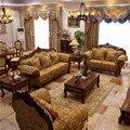 factory directly modern fashionalbe european fabric Villa sofa furniture #904