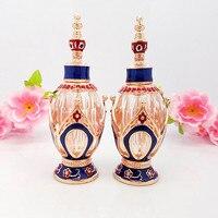 10 ML butelce olejku butelki perfum szkło kryształowe butelki małe pojemniki pefume próbki z wymienialnym wkładem makijaż kontenerów