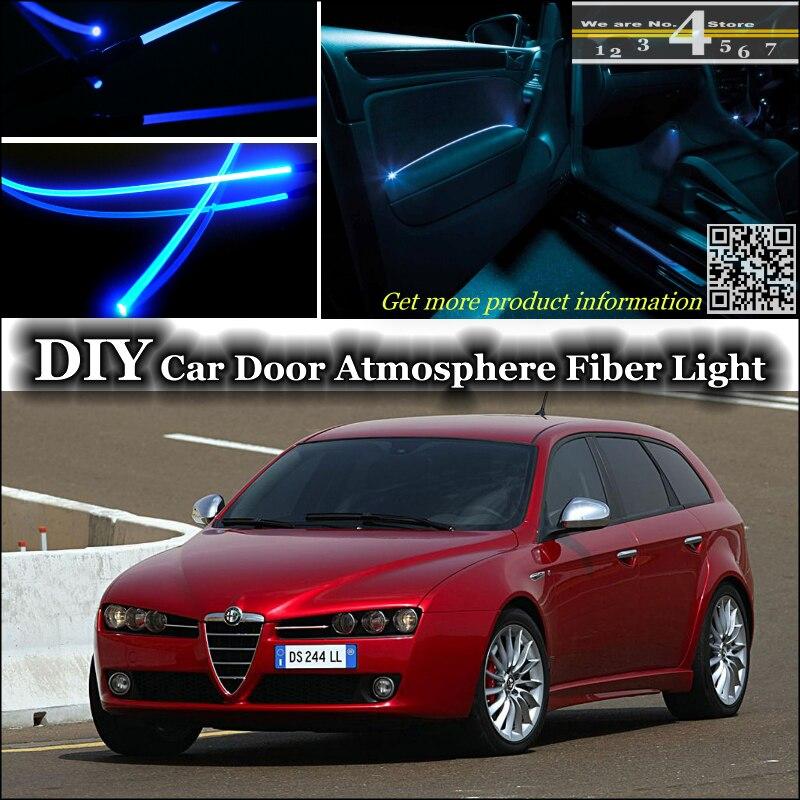 Afinação de Luz Ambiente interior Atmosfera Luzes Faixa de Fibra Óptica Para A Alfa Romeo 159 AR Porta Interior Do Painel de Ajuste de iluminação